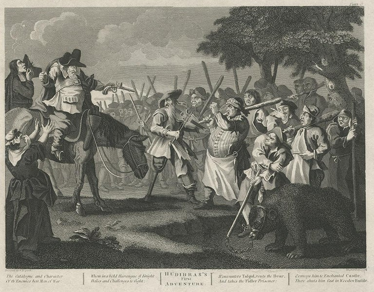 English Antique print of Hudibras by T. Cook, circa 1810 For Sale