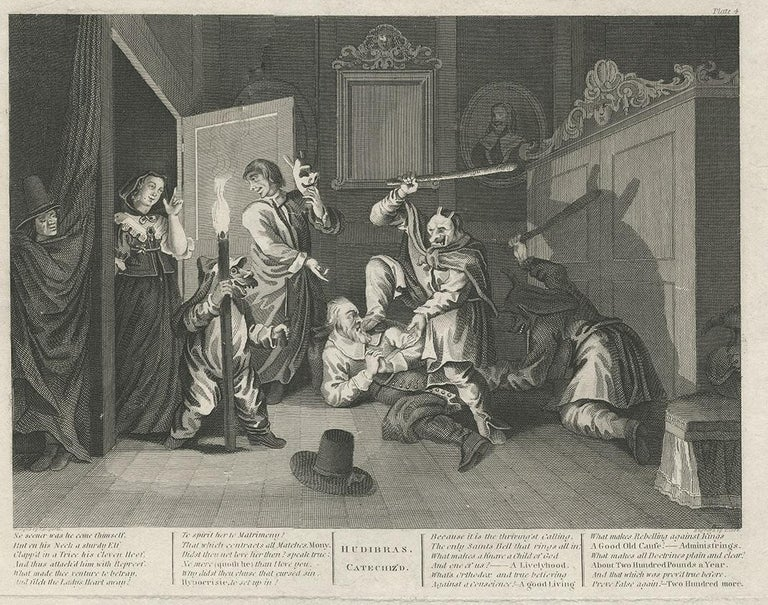 Antique print of Hudibras by T. Cook, circa 1810 In Good Condition For Sale In Langweer, NL