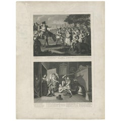 Antique print of Hudibras by T. Cook, circa 1810