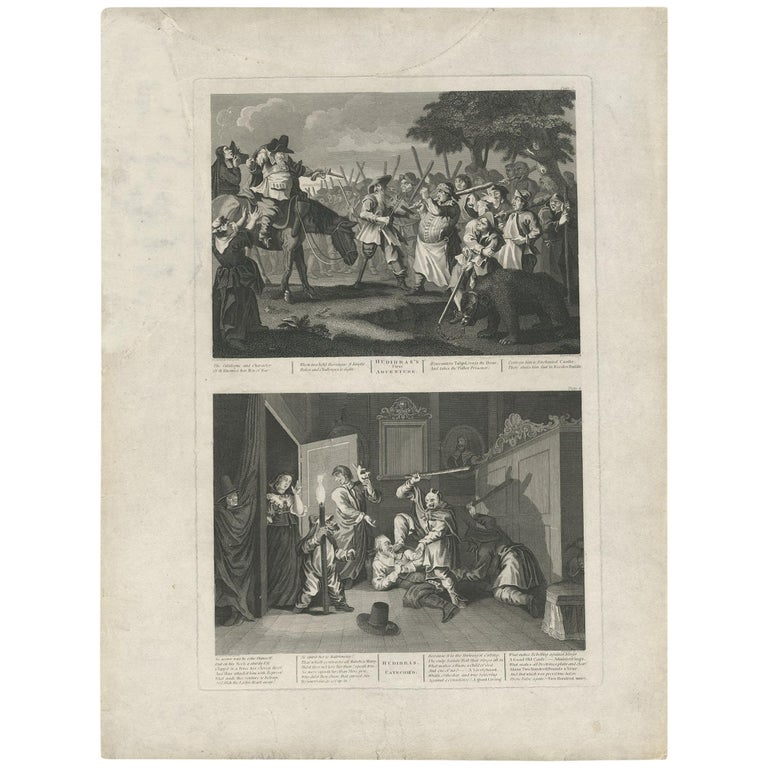Antique print of Hudibras by T. Cook, circa 1810 For Sale
