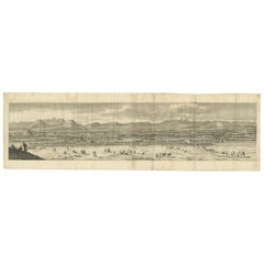 Antique Print of Isfahan 'Iran' by De Bruyn, 1718