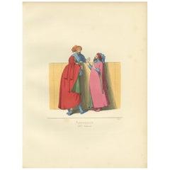 Antique Print of Italian Artisans by Bonnard, 1860