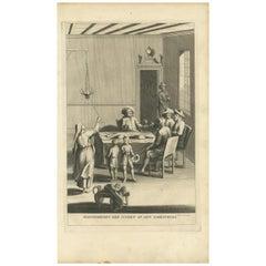Antique Print of Jewish Ceremonies by A. Calmet, 1727
