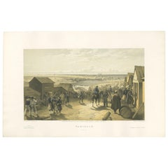 Antique Print of Kamiesch 'Crimean War' by W. Simpson, 1855