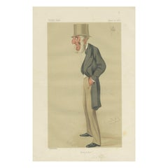 Antique Print of Lord Vivian published in the Vanity Fair, 1876