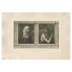 Antique Print of 'Madonna Addolorata and Ecce Homo' Made after Luini 'c.1890'