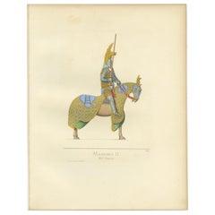 Antique Print of Mastino II della Scala, Lord of Verona, by Bonnard, 1860