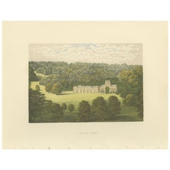 Antique Print of Milton Abbey by Morris, 'circa 1880'
