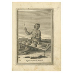 Antique Print of Musical Instruments in Banten by Bonanni '1725'