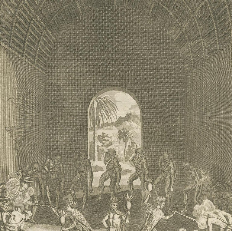 Antique Print of Native Americans by Picart '1721' In Good Condition For Sale In Langweer, NL