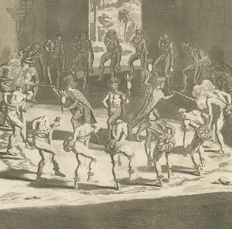 18th Century Antique Print of Native Americans by Picart '1721' For Sale