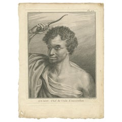 Antique Print of Otago by Cook, '1778'
