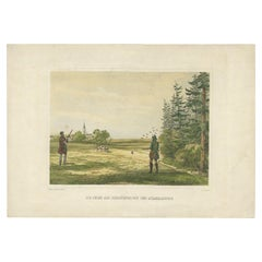Antique Print of Patridge Hunting by Müller & Sandmann, circa 1880