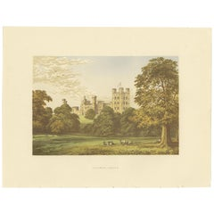 Antique Print of Penrhyn Castle by Morris, circa 1880