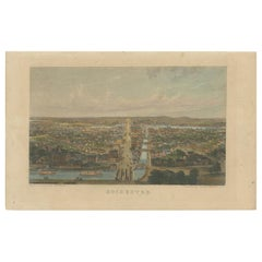 Antique Print of Rochester by C. Magnus, 'circa 1855'
