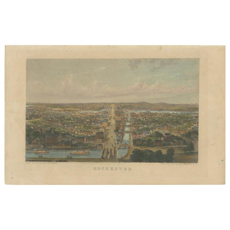Antique Print of Rochester by C. Magnus, 'circa 1855' For Sale