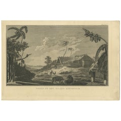 Antique Print of Rotterdam Island by Klauber, circa 1810