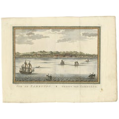 Antique Print of Samboupo 'Sulawesi, Indonesia' by J. van Schley, 1750