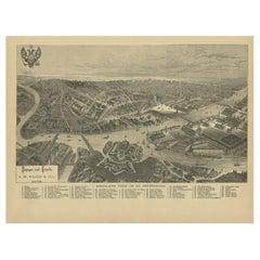 Antique Print of St. Petersburg by Walker, '1887'