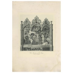 Antique Print of 'The Adoration of the Magi' Made after Fabriano 'c.1890'