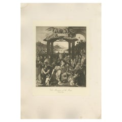 Antique Print of 'The Adoration of the Magi' Made after Ghirlandajo 'c.1890'