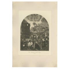 Antique Print of 'The Adoration of the Magi' Made After Luini 'C.1890'