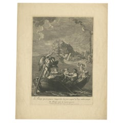 Antique Print of the Allegory of Time by Picart, circa 1720