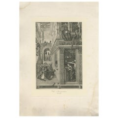 Antique Print of 'The Annunication' made after Crivelli 'c.1890'