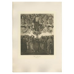 Antique Print of 'The Ascension' Made after Perugino 'c.1890'