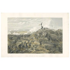 Antique Print of the attack on Malakoff 'Crimean War' by W. Simpson, 1855