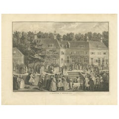 Antique Print of the Baptism of Christians by Bernaerts, 1736