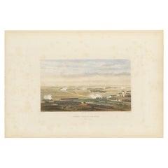Antique Print of the Battle of Arcis-sur-Aube, 'circa 1860'