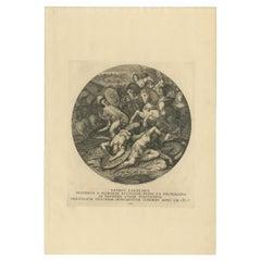 Antique Print of the Battle of Orbetello by Von Prenner, '1748'