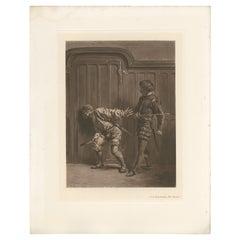 Antique Print of 'The Bravos' Made after J.L.E. Meissonier '1902'