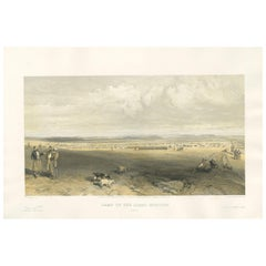 Antique Print of the Camp of Light Division 'Crimean War' by W. Simpson, 1855