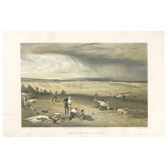 Antique Print of the Camp of the 3rd Division 'Crimean War' by W. Simpson, 1855