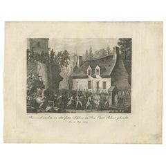 Antique Print of the Capture of Pierre Victor, Baron De Besenval De Brünstatt