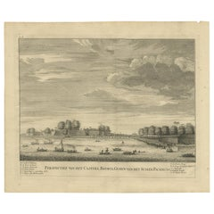 Antique Print of the Castle of Batavia by Valentijn, 1726
