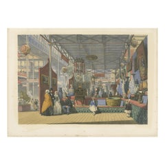 Antique Print of the Chinese Stand at the Great Exhibition by Dickinson '1854'