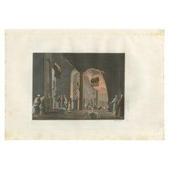 Antique Print of the Church of Bethlehem by Ferrario, '1831'