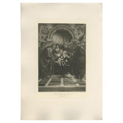 Antique Print of 'The Circumcision' Made after Signorelli 'c.1890'