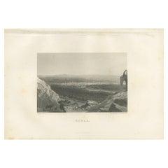 Antique Print of the City of Jerusalem by Grégoire '1883'