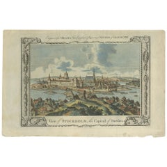 Antique Print of the City of Stockholm by Millar 'c.1785'