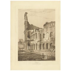 Antique Print of the Colosseum by Abbot, 1820
