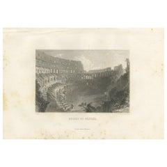 Antique Print of the Colosseum by Grégoire, 1883