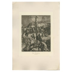 Antique Print of 'The Crucifixion' made after Tintoretto 'c.1890'