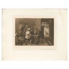Antique Print of 'The Deliverance of St. Peter' made after D. Teniers (1902)