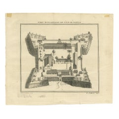 Antique Print of the Dutch Fort on Banda by Tardieu 'circa 1750'