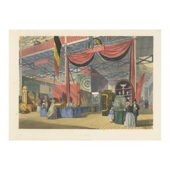 Antique Print of the Dutch Stand at the Great Exhibition by Dickinson '1854'