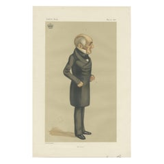 Antique Print of the Earl of Powis Published in the Vanity Fair, 1876